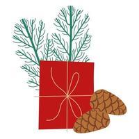 confezione regalo presente con semi e rami