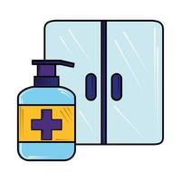 pulire le superfici nuovo normale dopo il coronavirus covid 19 vettore