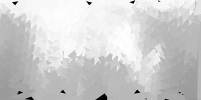 carta da parati a mosaico triangolo vettoriale grigio chiaro.