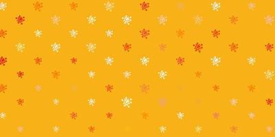 trama vettoriale arancione chiaro con simboli di malattia.