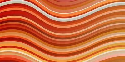 modello vettoriale arancione chiaro con linee.