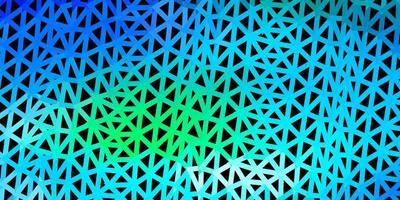 carta da parati poligonale geometrica blu chiaro, verde vettoriale.