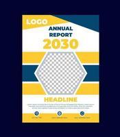modello di progettazione copertina relazione annuale vettore