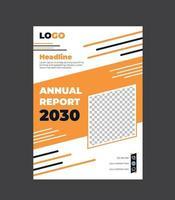 modello di volantino aziendale relazione annuale vettore