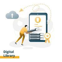 libreria digitale della pagina di destinazione