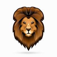 arte linea testa di leone vettore