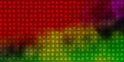 modello vettoriale multicolore chiaro con rettangoli.