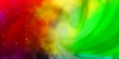 sfondo vettoriale multicolore chiaro con stelle piccole e grandi.