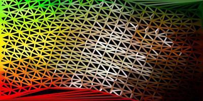 modello di triangolo poli vettoriale verde scuro, giallo.
