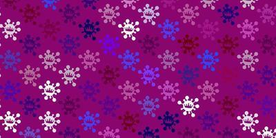 modello vettoriale multicolore chiaro con segni di influenza