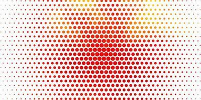 sfondo vettoriale arancione chiaro con cerchi