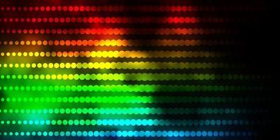 modello vettoriale multicolore scuro con cerchi.