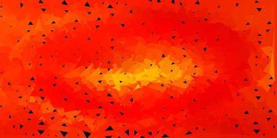 modello di mosaico triangolo vettoriale arancione chiaro.