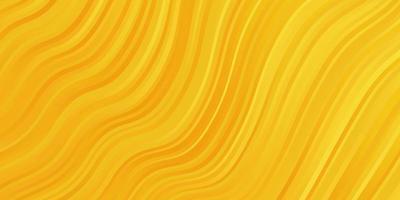 modello vettoriale giallo scuro con linee.