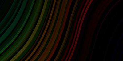 modello vettoriale verde scuro, rosso con linee ironiche.