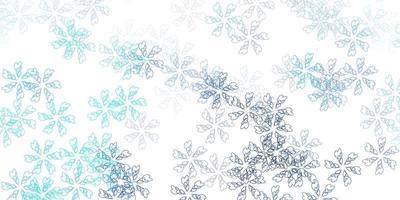 materiale illustrativo astratto di vettore blu chiaro con foglie.