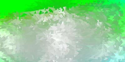 sfondo di mosaico triangolo vettoriale verde chiaro.