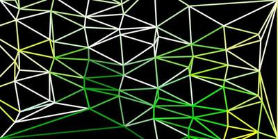 modello di triangolo poli vettoriale verde chiaro, giallo.