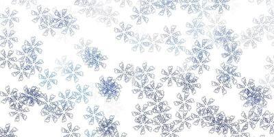 fondo astratto di vettore blu chiaro con foglie.