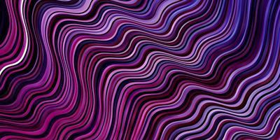 texture vettoriale viola chiaro, rosa con curve.