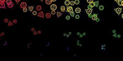 trama vettoriale multicolore scuro con simboli religiosi.