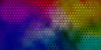 sfondo vettoriale multicolore chiaro con bolle.