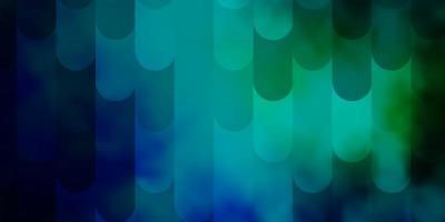 sfondo vettoriale azzurro, verde con linee.