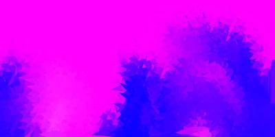 sfondo poligonale vettoriale viola chiaro, rosa.
