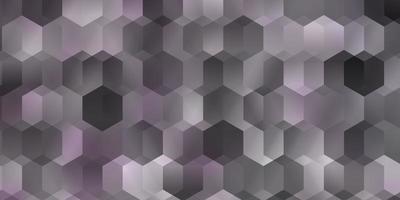 sfondo vettoriale viola chiaro con set di esagoni.