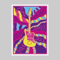 Poster di musica psichedelica vettore