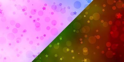texture vettoriale con cerchi, stelle.