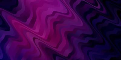 sfondo vettoriale viola scuro, rosa con arco circolare.