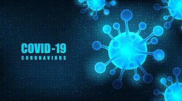 vettore coronavirus 2019-ncov