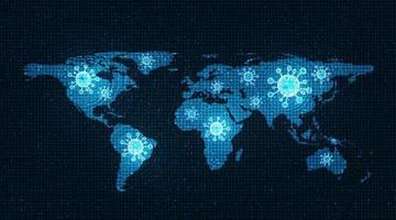 mappa dell'epidemia di coronavirus 2019-ncov vettore