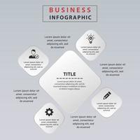 passaggi di infografica quadrati di affari. progettazione di etichette infografiche aziendali con 4 opzioni. vettore