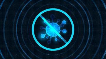tecnologia covid-19 cell design vettore