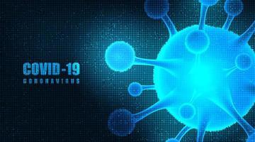 sfondo futuristico del coronavirus vettore