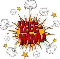 fumetto comico con testo yee-haa vettore
