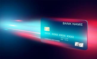 banner di concetto di pagamento online con carta di credito vettore