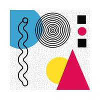 poster astratto con figure e colori geometrici vettore