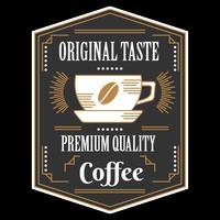 Vettore del distintivo del caffè