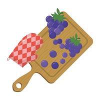 disegno vettoriale di frutta uva isolato