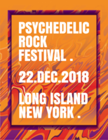 Poster del festival rock psichedelico vettore
