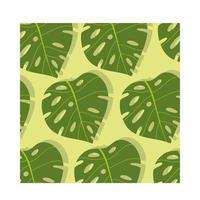 Fondo tropicale del modello delle piante frondose vettore