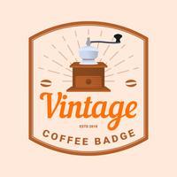 Vettore d'annata del distintivo del caffè piano