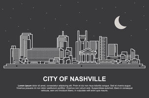 Paesaggio di Nashville vettore