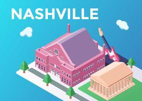 Illustrazione del punto di riferimento di Nashville vettore