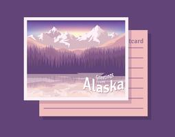 Cartolina dall'illustrazione dell'Alaska