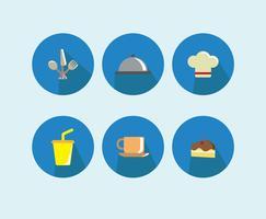 Vettore delle icone della mensa