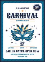 Manifesto di Carnevale vettore